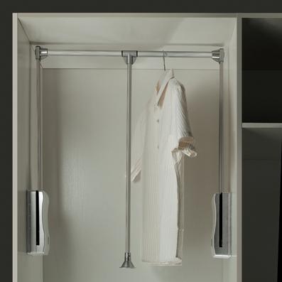 Adjustable File Cabinet Wardrobe Aluminum Rod