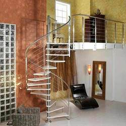 Round Stairs Steel Railings