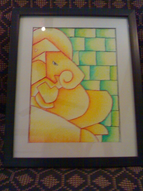 Abstract Painting Ganesha Design
