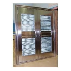 Stainless Steel Safety Door Grill In Mugappair Road