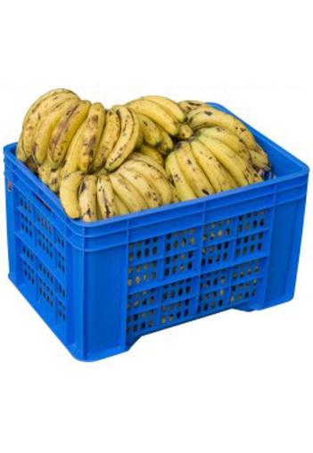 Plastic Banana Corrugated Crate Model 53453 In Sahar