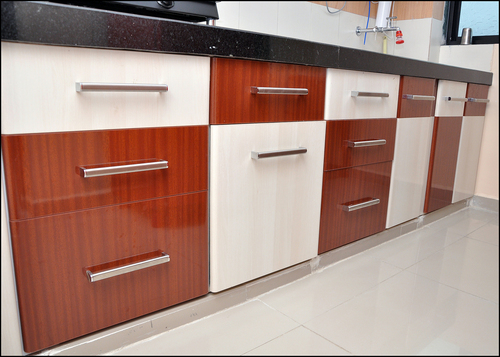 Kitchen cabinet in gandhinagar gujarat india kaka pvc for Kitchen design sunmica