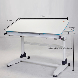 Height Adjustable Steel Wood Study Table In Luyuan District, Changchun    Exporter And Manufacturer