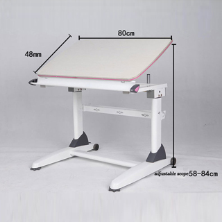 Superb Height Adjustable Hand Crank Study Table For Children And Students