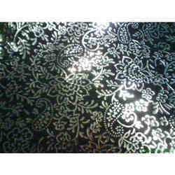 Metallic Crystal Flower Leathers