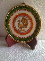 Marble Peacock Plate