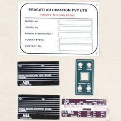 Sticker Type Anodized Aluminum Name Plates
