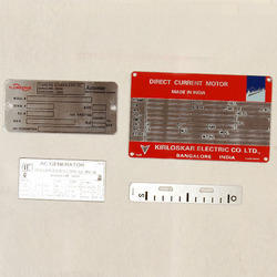 Etching Stainless Steel Name Plates
