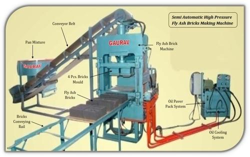 Semi Automatic Fly Ash Bricks Making Plant