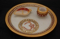 Traditionally Crafted Marble Plates