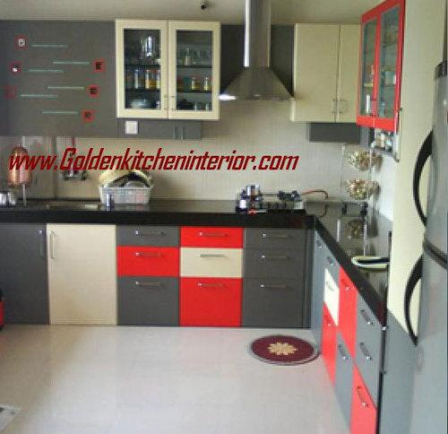 L Wooden Modular Kitchen Manufacturer: Wooden Almirah In Baner, Pune