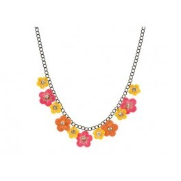 Flower Necklace With Full Rhinestone Crystal