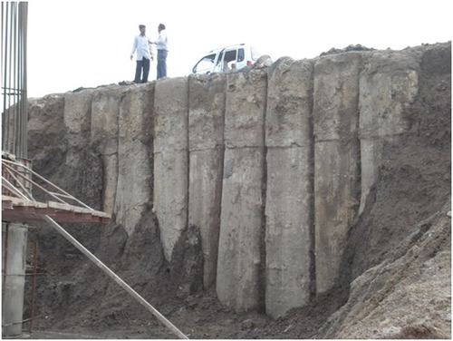 Wall Construction Services : Diaphragm wall construction service in new area ahmedabad