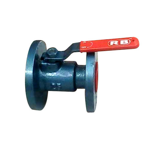 Cast Iron Single Piece Flange End Ball Valve in  Shahibaug
