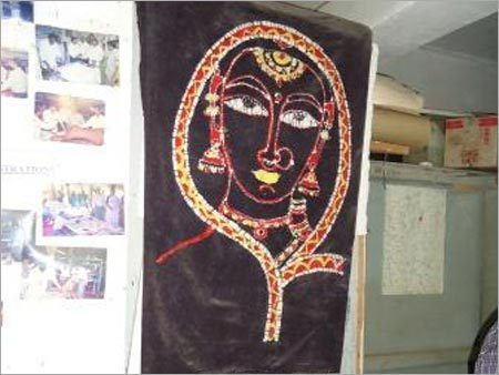 Hand Fabric Paintings