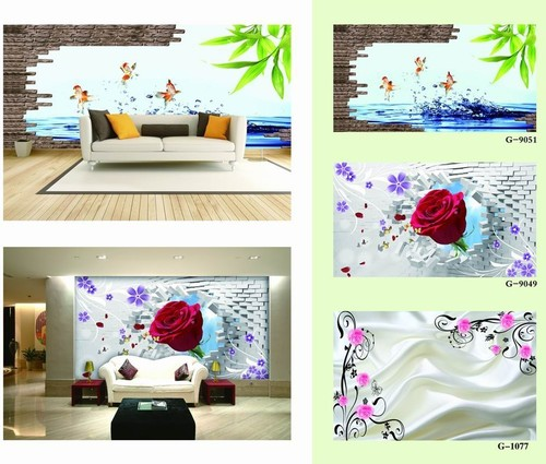 3d wallpaper for living room in long gang area shenzhen for Wallpaper for living area