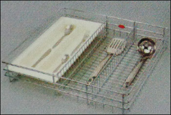 Cutlery Basket With Tray