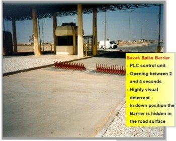 High Security Spike Barrier