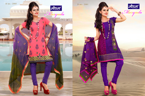 Designer Cotton Dress Material in  Ring Road