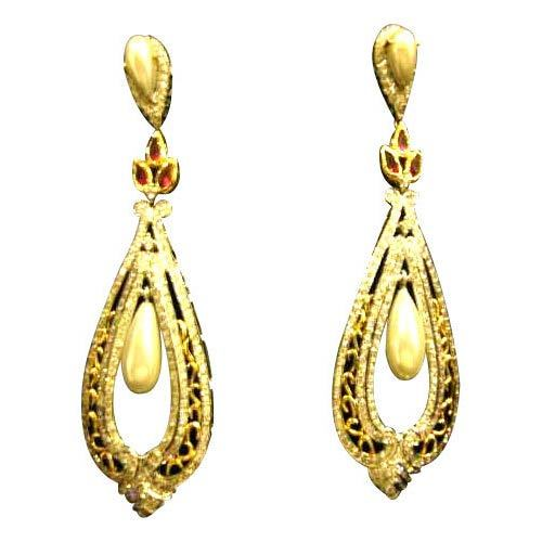 Gold Earrings in Kolkata West Bengal India S P Kulthia