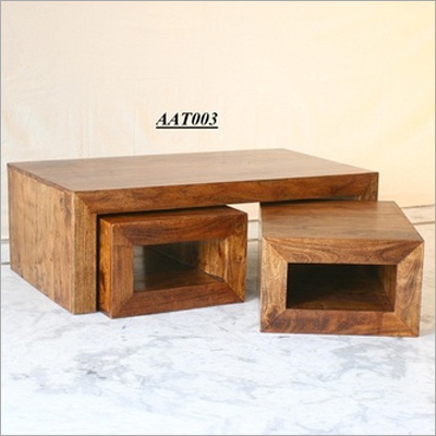 Wooden Center Tables : Wooden Center Table in Ajmer Road, Jaipur, Rajasthan, India - KASBA ...