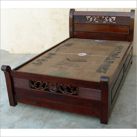. Single Bed Designs  Knocked Down Single Design Solid Pine Wooden Bed