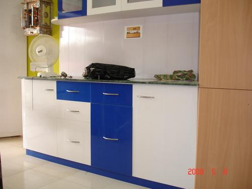 Colored Pvc Kitchen Cabinet