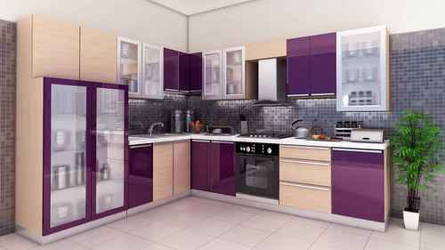 L Shaped Modular Kitchen In Near Axis Bank Tezpur K7