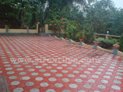 Ground paver tiles in near cochin thodupuzha sirex for Exterior tiles design india