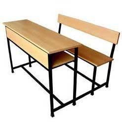 Three Seater School Bench in  Black Burn Lane