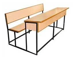 Unmatched Quality Three Seater School Bench in  Black Burn Lane
