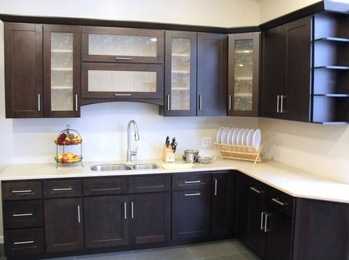 Modular kitchen cabinet in nangla enclave sohna road for Prefabricated kitchen cabinets