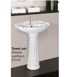 Pedestal Washbasin Towel Set White in    Dist. Surendra Nagar
