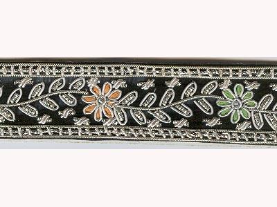 Floral Design Zari Borders in  Sadar Nala Road [Sb]