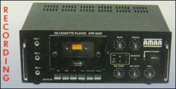 Front Loading With Recording Pa Cassette Amplifier (Cpa-550 R)