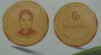 Sachin Tendulkar Gold Coins
