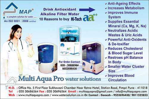 Fully Automatic Anti Oxidant Alkaline RO+UV+TDS+Filter Change Alarm etc in  Pimpri