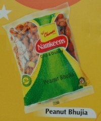 Peanut Bhujia Namkeens (Clear Packs)