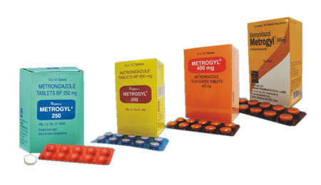 Metrogyl (Metronidazole 200mg, 250mg, 400mg and 500mg Tablet)