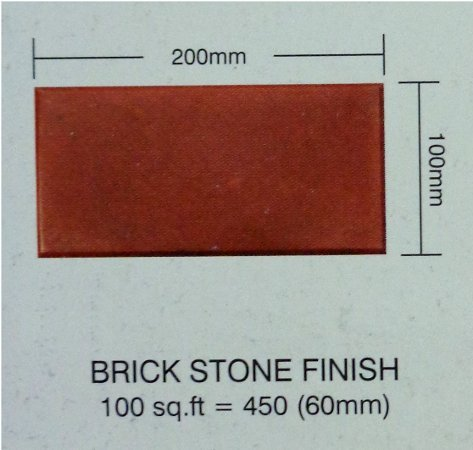 Brick Stone Finish Paver