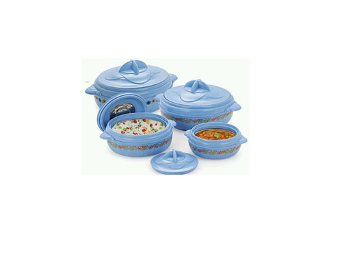 Nice 4 Pcs Plastic Insulated Casserole Set