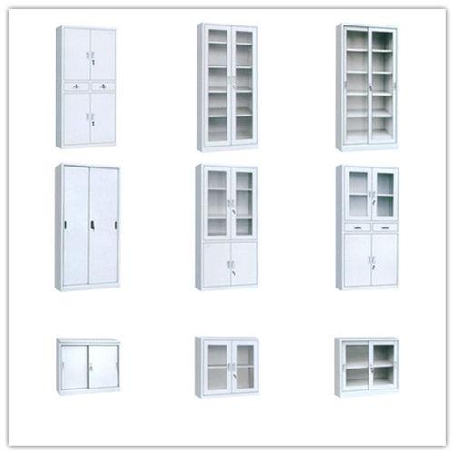 Customize Steel Lockable Glass Cabinet