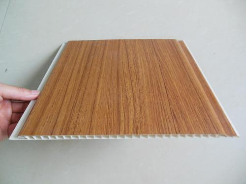 Wood Grain Laminate Pvc Wall Cladding Panel