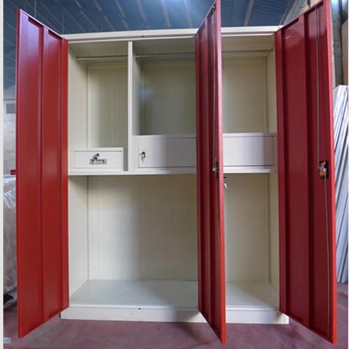 3 Doors Metal Storage Designer Wardrobe In Mudan Avenue