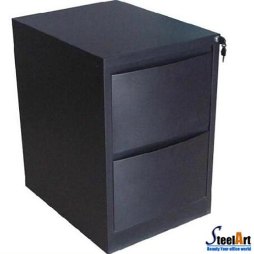 2 Drawers Black File Storage Cabinet