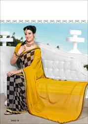 Yellow Fancy Saree