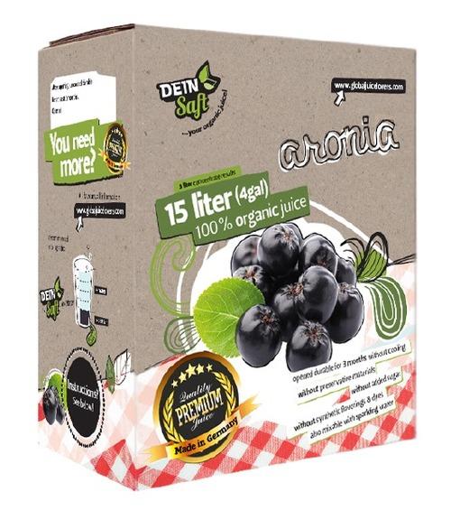 Dein Saft Premium Bag-in-Box Aronia Organic Concentrate Fruit Juice