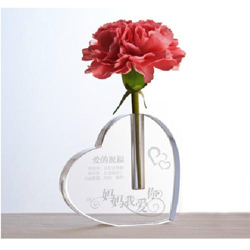 Home Decoration Crystal Glass Flower Vase
