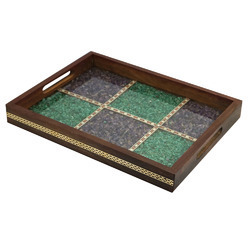 Gemstone Wooden Serving Tray in  Tonk Road