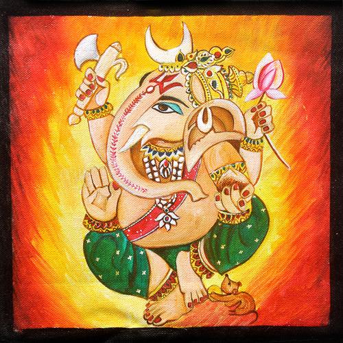 Ganpati-Ganesha Original Acrylic Painting